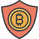 bitcoin, cryptocurrency, digital, finance, protection, shield, trade