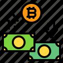 bitcoin, cash, money