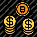 bitcoin, coin, stack icon