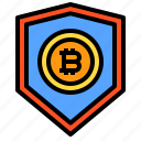 bitcoin, protect, shield icon