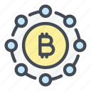 crypto, bitcoin, cryptocurrency, blockchain, network, connection, data