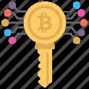 bitcoin key, bitcoin password, bitcoin private key, bitcoin public key, bitcoin secret number icon