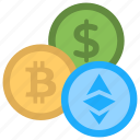 altcoins, alternative cryptocurrencies, alternative currencies, cryptocurrency coins, digital currencies icon