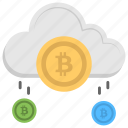 bitcoin cloud mining, bitcoin network, cloud bitcoin, cloud cryptocurrency, digital currency icon