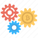 bitcoin file configuration, bitcoin inside gears, bitcoin network configuration, bitcoin network settings, bitcoin settings icon