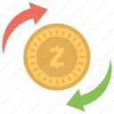cryptocurrency, decentralized cryptocurrency, zcash, zcash investment, zcash mining icon