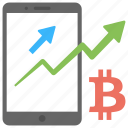 bitcoin chart, bitcoin graph, bitcoin network statistics, bitcoin traffic icon