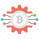 bitcoin mining software, bitcoin mining technology, bitcoin technology, blockchain technology, digital currency icon