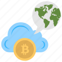 bitcoin cloud, bitcoin cloud mining, bitcoin network, digital currency icon