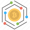 alternative currency, bitcoin, cryptocurrency, digital currency, worldwide payment system icon