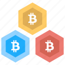 bitcoin blockchain, bitcoin blocks, bitcoin network, bitcoin transaction, cryptocurrency icon