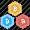 bitcoin blockchain, bitcoin blocks, bitcoin network, bitcoin transaction, cryptocurrency icon