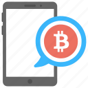 bitcoin alerts, bitcoin app, bitcoin notification, cryptocurrency alarm, sms cryptocurrency icon