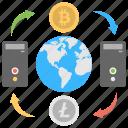 bitcoin network, decentralization in bitcoin, decentralized, decentralized cryptocurrency exchange, decentralized exchange icon