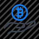 bitcoin, bitcoins, cryptocurrency, money, coin, hand