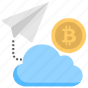 bitcoin cloud mining, bitcoin transaction, cloud bitcoin wallet, cryptocurrency, virtual currency icon