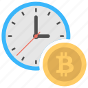 bitcoin time value, time is money, time value of money, value of bitcoin, value of time icon