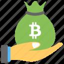 bitcoin cash, bitcoin cash payment, bitcoin payment, blockchain transactions, hand holding bitcoin cash icon