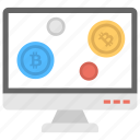 electronic money, make money fast, online cryptocurrency, online digital currency, online earning icon