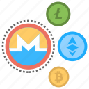 altcoins, alternative cryptocurrencies, alternative currencies, alternatives to bitcoin, digital currencies icon