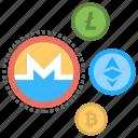 altcoins, alternative cryptocurrencies, alternative currencies, alternatives to bitcoin, digital currencies icon