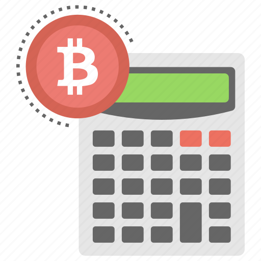 Bitcoin Calculation Calculator Cryptocurrency Instant Price Converter Mining Icon