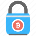 bitcoin encryption, bitcoin lock, safe cryptocurrency, secure bitcoin icon