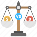 bitcoin over dollar, bitcoin usage, bitcoin value, bitcoin vs dollar, currency value icon