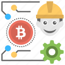 bitcoin craft, bitcoin hardware, bitcoin mining, bitcoin software, cryptocurrency mining icon