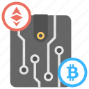 cryptocurrency transaction, cryptocurrency wallet, digital transactions, digital wallet, virtual wallet icon