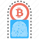 bitcoin digital signature, cryptocurrency signature, cryptocurrency transaction, digital signature, signature in bitcoin work icon
