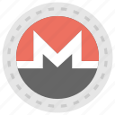 alternative currency, cryptocurrency, digital currency, monero, monero currency icon
