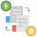 accounting journals and ledgers, blockchain, blockchain network consensus, distributed ledger, shared ledger icon