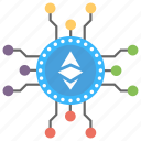 alternative currency, cryptocurrency, digital currency, ethereum, ethereum currency icon