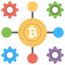 bitcoin core, bitcoin network, bitcoin node, blockchain, full nodes icon