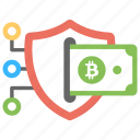 bitcoin secure transaction, bitcoin transaction network, blockchain security, cryptocurrency, reliable bitcoin wallet icon