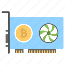 card for mining, crypto mining card, gpu mining, mining graphic card, mining hardware icon