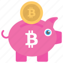 banking on bitcoin, bitcoin cryptocurrency, bitcoin exchange, bitcoin investment, bitcoin piggy bank icon