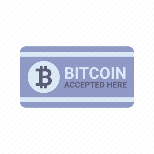 accepted, bitcoin, blockchain, cryptocurrency, currency, here, payment icon