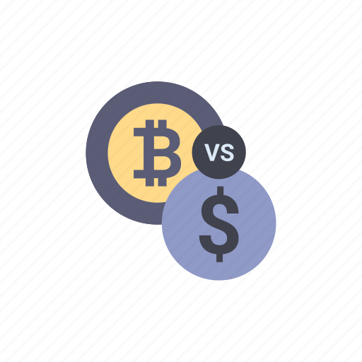 banking, bitcoin, cryptocurrency, dollar, exchange, financial, vs icon