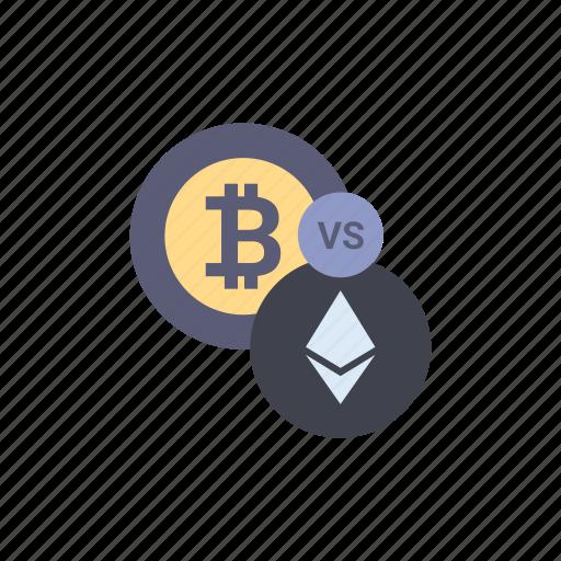 Bitcoin Crypto Cryptocurrency Ether Ethereum Exchange Vs Icon