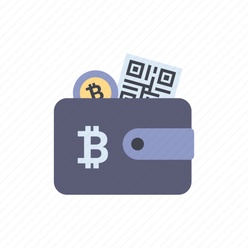 bitcoin, cryptocurrency, online, payment, qr code, shopping, wallet icon