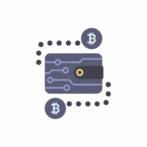 banking, bitcoin, blockchain, cryptocurrency, financial, payment, wallet icon