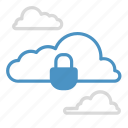 cloud, cloud storage, keylock, lock, save, security, storage icon