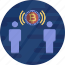 connection, cryptocurrency, network, social, wifi icon