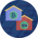 bitcoin, cash, cryptocurrency, dollar, finance, financial, money icon
