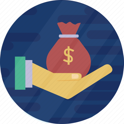 bank, banking, cryptocurrency, dollar, finance, hand, money icon