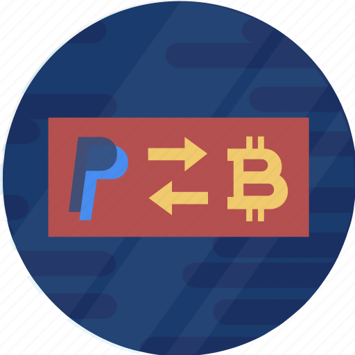 blockchain, cryptocurrency, digital, paypal, paypal to bitcoin icon