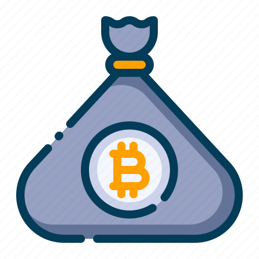 Bag, bitcoin, business, cash bag, cryptocurrency, digital money, electronic cash icon - Download on Iconfinder