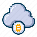 bitcoin, business, cloud, cryptocurrency, data, digital money, electronic cash